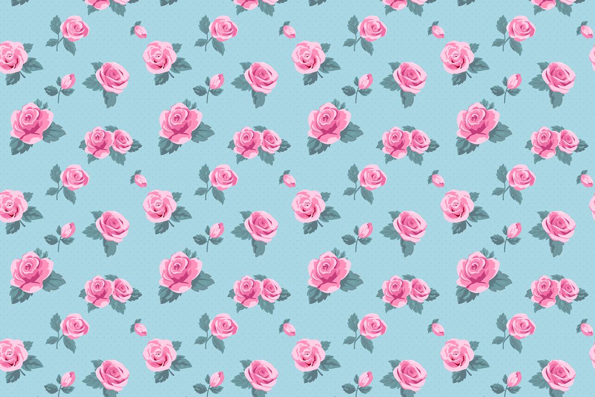バラのパターン背景3