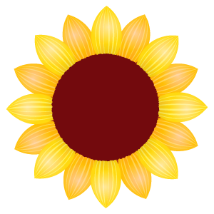 ひまわりの花4 | 花、植物 ... : あじさいの絵 : すべての講義
